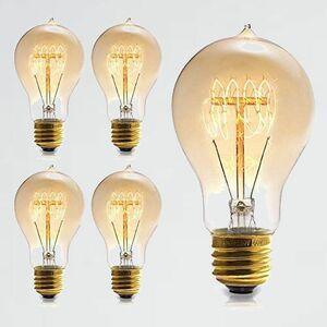 未使用 新品 60W エジソン電球 M-2Q 装飾用器具 (4個) 110V A19電球調光可能 E26口金 ヴィンテ-ジエジソンランプ