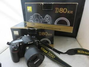 909☆ニコン D80 AF-S NIKKOR 18-135mm 2点/MB-D80/D200 18-70mm ジャンク扱 カメラ レンズ 1円~