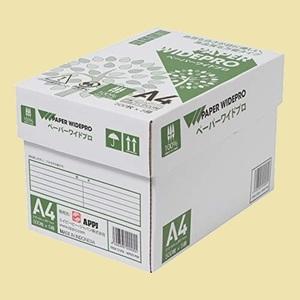 セール 新品 自然色 APP E-4E 2500枚(500枚×5冊) PEFC認証 コピ-用紙 ペ-パ-ワイドプロ A4 白色度87% 紙厚0.09mm