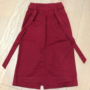 スカート タイトスカート ロングスカート 赤色