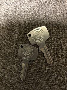 50s60s ホンダ純正 N2402 当時物 鍵 未使用2本セット カニマーク ツリカブ C100 C105 CB72 CB93 C72 CL72 C92 CT 昭和レトロ 旧車