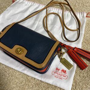 【美品】コーチ ショルダーバッグ セカンドバッグ 2way マルチカラー 保存袋