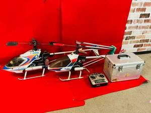 L-4149⑭■:【直接引取限定】HIROBO/ヒロボー ヘリコプター Shuttle Plus/SCEADU Evolution/2点 リモコン 付属品まとめ ジャンク品