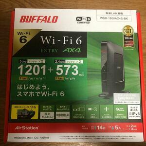 BUFFALO バッファロー WSR-1800AX4S-BK 親機 無線LANルーター AirStation wifi6