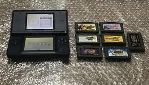 DS lite 本体 + ゲームボーイアドバンス ソフト 7本 ロックマンゼロ ロックマンエグゼ2 エグゼ3 エグゼ5 ブルース カービィ GBA DSライト