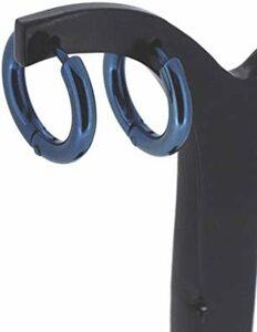 新宿銀の蔵 シンプル サージカルステンレス フープピアス (2P 両耳用) ブルー ピアス イヤリング 金属アレルギー 対応 メ