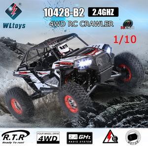 【送料無料/税込】 LED点灯 WLtoys 10428-B2 1/10 2.4G 4WDエレクトリックロッククローラーオフロードバギー砂漠バハRCカーRTR ラジコン
