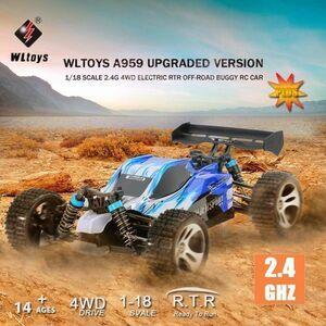 【送料無料/税込】 全2色 Wltoys A959 1/18 1:18 スケール 2.4G  4WD RTR オフロード バギー ラジコン RCカー Wltoys A959
