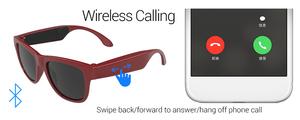 【送料無料/税込】 骨伝導ワイヤレス スポーツサングラスイヤホンステレオヘッドセット Bluetooth ヘッドフォン ランニングカラー選択可能