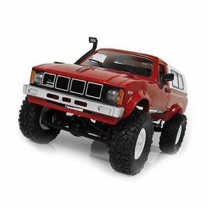 【送料無料/税込】 LED点灯 1/16スケール オフロード バギー 4WD RCカー 電動ラジコン リモートコントロール トラックタイプ レッド