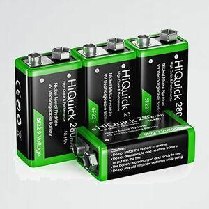 新品 未使用 9V HiQuick 7-W9 環境にやさしい 9V充電池 電池 充電式 エコ電池 ニッケル水素電池 280mAh4個入り 6P形 電池
