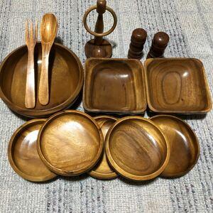 木製食器セット  サラダボール