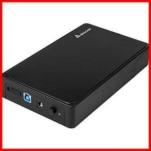 Salcar 高速USB3.0 3.5インチ 外付け HDD/SSD ケース UASP高速転送 SATAI/II/III対応 6TB 高放熱性 工具不要 簡単着脱 ブラック