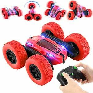 Cレッド OCDAYラジコンカー LEDライト付き 2.4GHz無線 6-12歳向けおもちゃ 屋外屋内おもちゃ 誕生日プレゼン