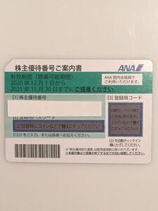 ANA株主優待券1枚。搭乗可能期間2021年11月30日迄