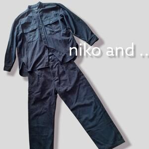 【niko and ...】ニコアンド  メンズ セットアップ  ノーカラー Lサイズ