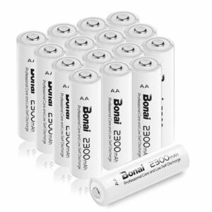 [新品/送料無料] Bonai 単3形 充電池 充電式ニッケル水素電池 16個パック PSE/CEマーキング取得 UL認証済(高容量2300mAh 約1200回使用可)