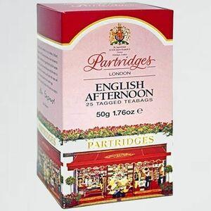 新品 未使用 イングリッシュアフタヌ-ンティ- パ-トリッジス G-V0 Partridges パ-トリッジ ティ-バッグ(2gx25袋 個包装) 紅茶