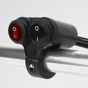 新品 未使用 防水 ヘッドライトフォグスポットライトON/OFFスイッチ W-ZH 赤色インジケ-タライト (22MM防水スイッチ) 12V