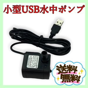 USB給電式 小型 水中ポンプ 送料無料【 省電力 水槽内循環 噴水 滝 アクアリウム アクアテラリウム パルダリウム 】