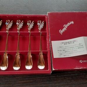 KYOCERA カトラリーセット スプーンセット ★白鳥 カラーオパール 京セラ 5本