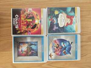 早い者勝ち ディズニー DVD 純正ケース 付き 4点セット 国内正規品 未再生 リトルマーメイド インクレディブルファミリー タイトル変更自由