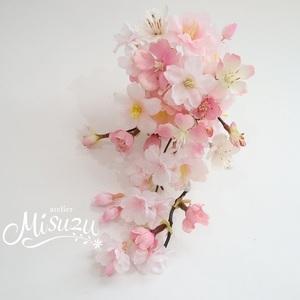桜 ゴージャス 揺れるさくらのキャスケードコサージュ 入学式 謝恩会 合格願掛け 卒業式 宴会 2