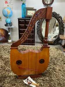 超希少!! リュート lute harp ハープ 特注品 2019年式 美品 欅 ケヤキ 北海道 エゾマツ 良好品 楽器