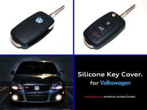 ◆ 【定番】【送料120円~】 VW シリコン キーカバー ケース 【黒】 ◆ up! ポロ ゴルフ ビートル トゥーラン シロッコ VW車に広く対応