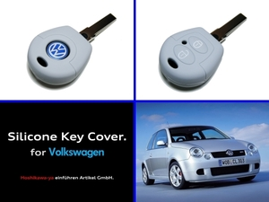 ◆ 【送料120円~】【希少】【数量限定】 VW シリコン キーカバー ケース 『ライトグレー』 Lupo GTI / Polo 6N後期 ルポ 6X ポロ 6N2 GTI