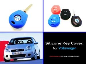 ◆ 【送料120円~】【希少】【数量限定】 VW シリコン キーカバー ケース 『青』 Lupo GTI / Polo 6N後期 ◆ ルポ 6X ポロ 6N2 GTI