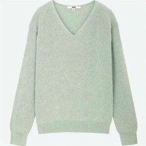 ユニクロ コットンカシミヤVネックセーター UNIQLO XLサイズ(長袖)