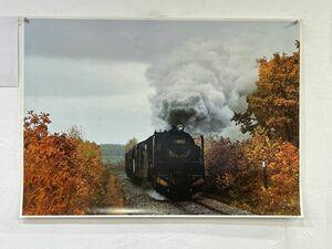 P03-03 / 【 未使用 】9600型式 蒸気機関車 広尾線 ポスター 約85.5㎝×60.7㎝ レア品