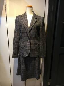 978☆UNIVERSAL LANGUAGE ユニバーサルランゲージ☆MOON ツイード スーツ【40/38】