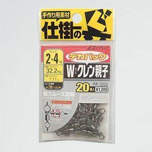 新品 目玉 スイベル OWNER(オ-ナ-) K-JO 20個 72455 デカパック Wクレン親子 2-4号 32.2kg