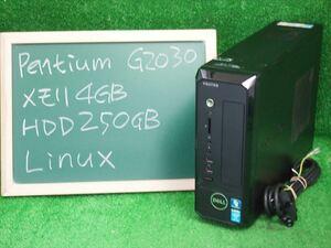[1316]★Linuxすぐ使える★ Pentium G2030 3GHz メモリ4GB HD250GB DVDマルチ Wi-fi 中古 Vostro 270s