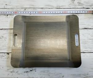 極厚9mm バーベキュー鉄板 グリルプレート ソロキャンプに