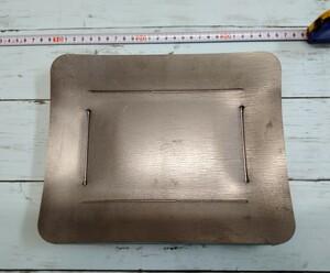 12mm厚 バーベキュー鉄板 グリルプレート ソロキャンプに
