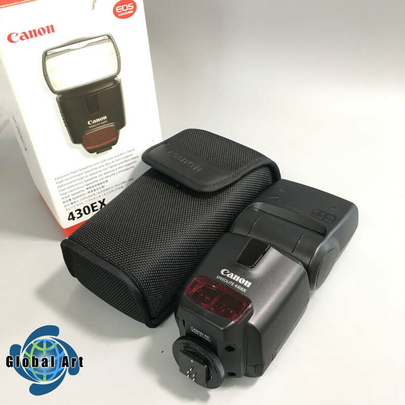 ★B10125【美品】Canon キャノン/ストロボ/SPEED LITE 430EX スピードライト/箱?ケース付/通電OK/動作未確認