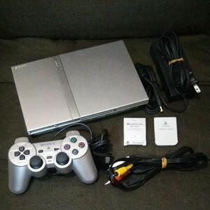 SONY PS2 SCPH- 本体 セット(シルバー)