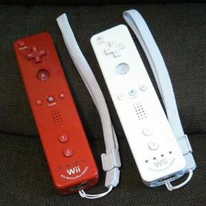 Nintendo Wii WiiU用 リモコンプラス セット(ホワイト・レッド)