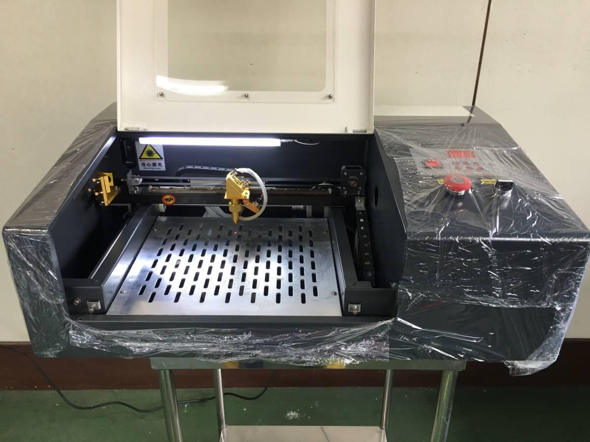 【 オトナのオアソビ 】新品レーザー加工機 レーザー切断機 高出力40W アクリル8mm瞬間切断 革生地木材 自在切断/彫刻 即稼働フルセット