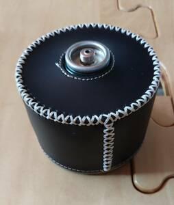 0205 230g OD缶 カバー レザーブラック 円柱タイプ アウトドア キャンプ