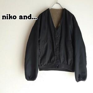 niko and... リバーシブルボアジャケット ブルゾン 15847