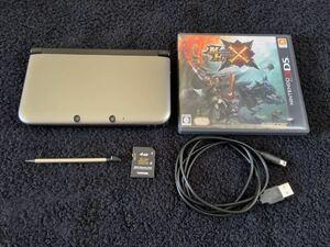 ニンテンドー3DS LL シルバーxブラック+モンスターハンターX Nintendo 3DS LL