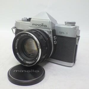Minolta/ミノルタ SR-1+オートロッコール PF55mm/F1.8 一眼レフ フィルムカメラ シャッター音確認済み 60
