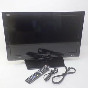 日立/HITACHI L26-K09 Wooo(ウー)2011年製 26V型 地上BS110度デジタル ハイビジョン液晶テレビ HDMI アンテナ ケーブル+リモコン/C-RT9付16
