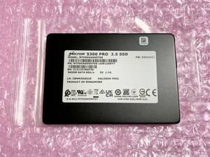 美品 高耐久 Micron Crucial 5300PRO 960GB 3D チップ SATA 2.5inch S-ATA最高性能 SSD エンタープライズ データセンター