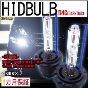 ■即納HID交換用バルブD4C55WD4SD4R兼用ケルビン数自由 2個セット