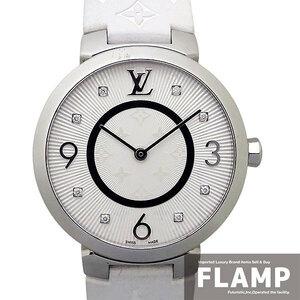 【LOUIS VUITTON ルイヴィトン】タンブール スリムMM 8Pダイヤモンド Q13MJ レディース 腕時計【美品中古】